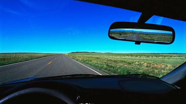 Big Windshield Looking Forward, Small Mirror Looking Back
